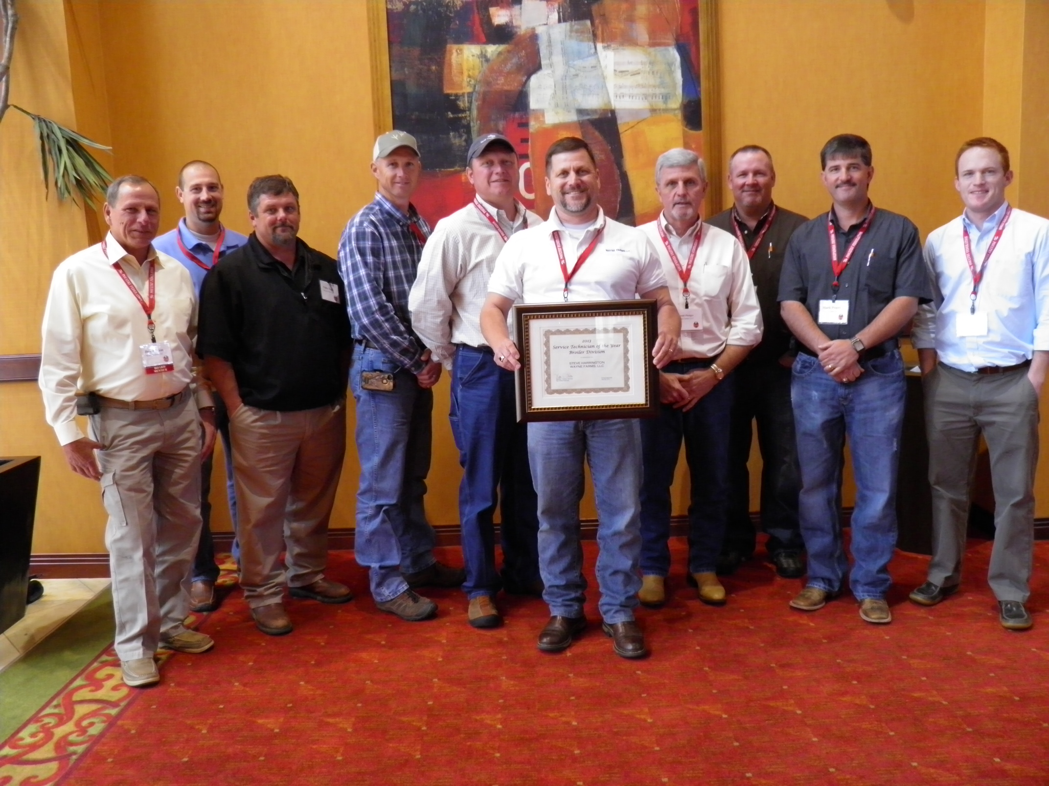 wayne farms employee named 2013 service technician of the