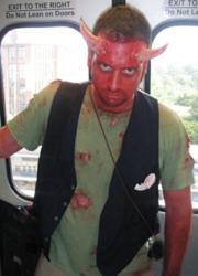 demon face paint costume makeup