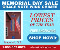 Whimsical Winds Wind Chime Annual Memorial Day Sale Event