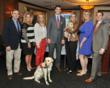Members of the Canine Company management team with Eli Manning. From left: Eric Connolly, Jodi Jones, Jesse Rosenschein, Eli Manning, Jennifer Hill Connolly, Traci Simo, and Matt Danyliw