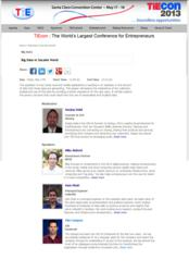 TiEcon Big Data SoLoMo Panel with Facebook, LinkedIn, KPCB and oGoing