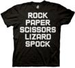 THE BIG BANG THEORY Rock, Paper, Scissors, Lizard, Spock T-shirt