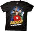 THE BIG BANG THEORY Bazinga! Justice League T-Shirt