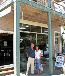 Scott and Jana Harvey ready for June 1st Grand Opening of expanded tasting room in Sutter Creek. Winemaker Scott Harvey was instrumental in transforming Gold Rush town into wine tasting destination in Amador County.