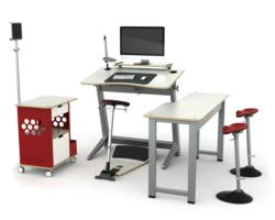 Focal Locus Standing Desk and Seat