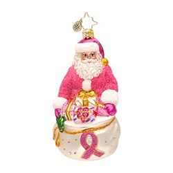 Christopher Radko Gallery presents 2013 Breast Cancer Charity Awareness Ornament Think Pink Nick