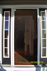 The Plissé Retractable Screen on customer J. Florio's Front Door
