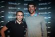 Splashpath app developer Dan Morgan meets his swimming hero Michael Phelps