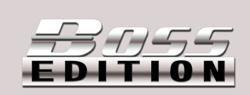Boss edition chrome car emblem