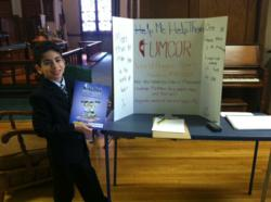 Matthew Flanders and his Mind Math display in New Jersey