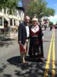 Norwegian Day Parade organizer and Nordic Delicatessen Owner Arlene Rutuelo with Robert Howe at 2012 Norwegian Day Parade in Bay Ridge, Brooklyn.