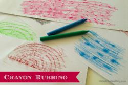 crayon wax rubbing
