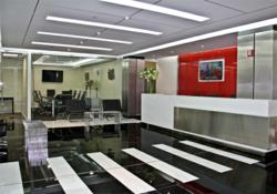 Times Square office space center - reception area