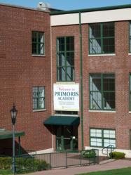 Close up photo of Primoris Academy Main Entrance