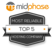 Midphase Ranked in Top Five Most Reliable Hosting Companies