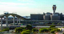 Overcoming challenging site constraints, the elevated people-mover system weaves seamlessly through the airport's 3,000-acre, three-runway grounds.