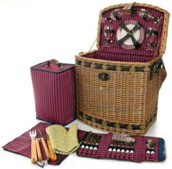 Picnic Basket with BBQ Tools Set