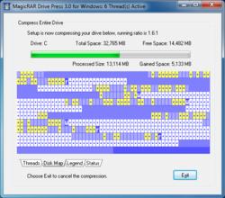 MagicRAR Drive Press 3.0 Screenshot
