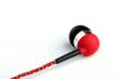 Red Tweedz Braided Headphone
