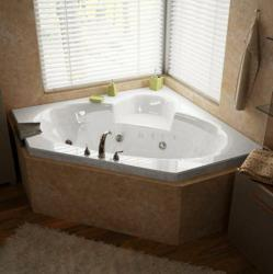 Atlantis Sublime 60 x 60 x 23 - Inch Corner Whirlpool Jetted Bathtub
