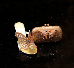NICOLI - Luxury Crystal Embellished Shoes and Handbags