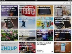 Erudito grid presentation of news titles