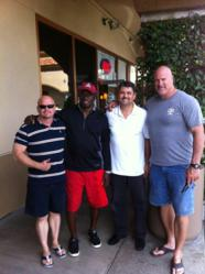 David Gergen, Roy Green, Dr. Brad Eli and Mark Walczak Spreading Sleep Apnea ppha pro player health alliance