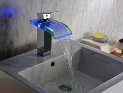 Sumerain S1354CM LED Bathroom Sink Faucet