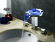Sumerain S1305CM LED Thermal Waterfall Bathroom Sink Faucet