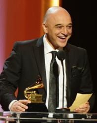 Omar Akram receives his Grammy at the 55th Annual Grammy Awards on February 9, 2013