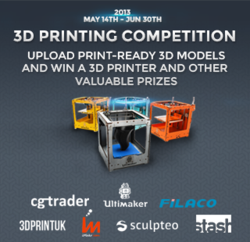 Upload your print-ready 3D models and win your very own 3D Printer!