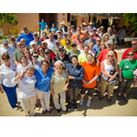 Platinum volunteers and residents come together