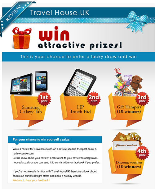 TravelhouseUK makes the current season grand with its lucky draw ...