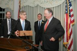 Winston Churchill Medal for Leadership presented to Stephen Brauer