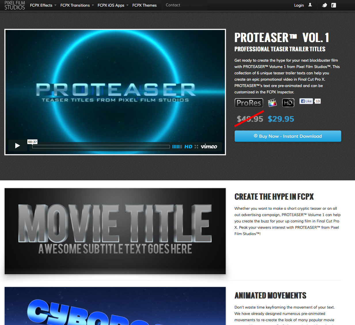 Pixel Film Studios Releases ProTeaser Teaser Trailer Titles for ...