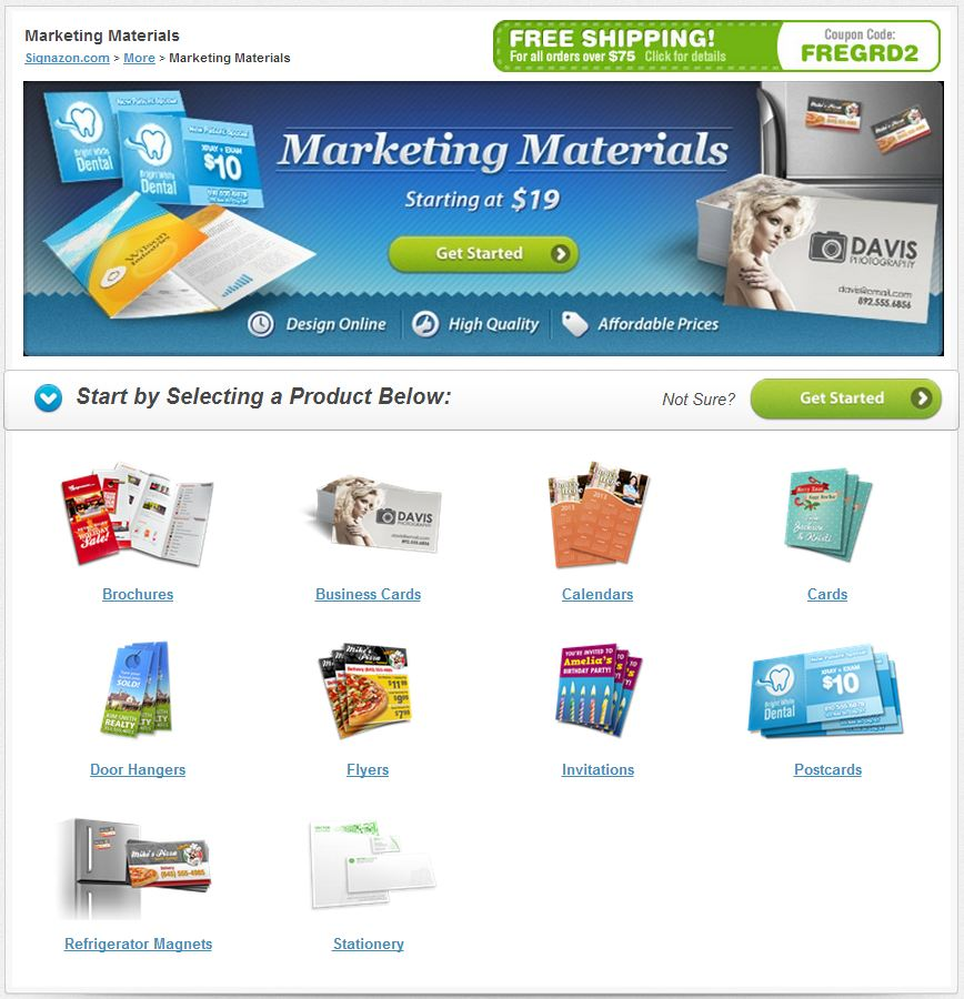 New and revamped product lines bring spring for Digital marketing materials