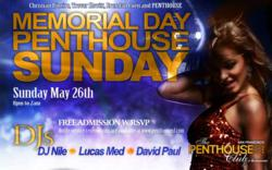 Memorial Day Penthouse Sunday