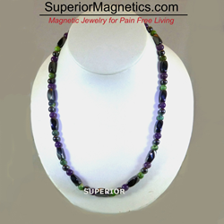 Magnetic Necklace with Gemstones