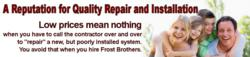 Frost Brothers Heating and Air: Lewisville's A+ Rated HVAC Service