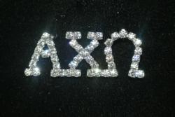 sorority bling, alpha chi omega jewelry, lapel pin, rhinestone, swarovski crystal