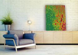 Vapor Sky's Fingerprint Decor in color scheme 'Flower.'