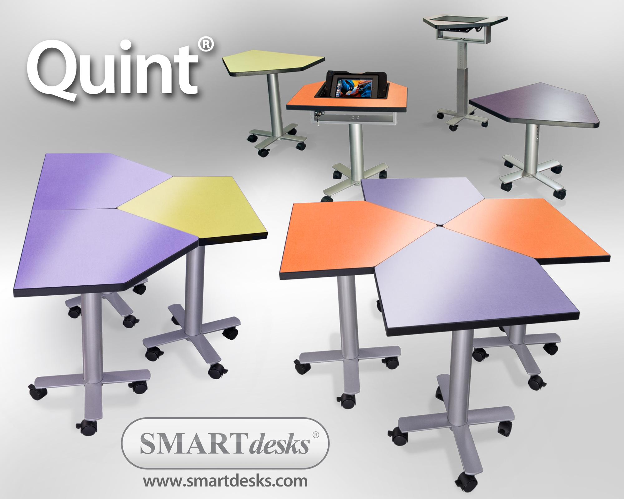 Smartdesks quint ipad classroom desks win platinum adex for Tables and desks in the classroom