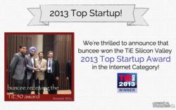 Buncee Awarded TiE50 2013 Top Startup