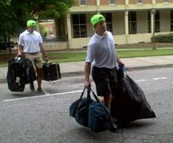 Campus Bellhops Moving Items At Clemson