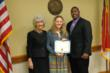 Left to right:  Dr. Kay Albertson, President of Wayne Community College; Haley Ginn, Scholarship Recipient; Jason Kinght, Crumley Roberts Community Involvement Specialist