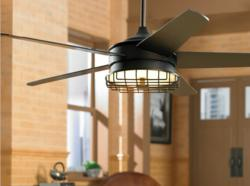 Industrial Style Ceiling Fan for Modern Decor and Loft Spaces