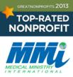Medical Ministry International Recognized as a 2013 Top-rated Nonprofit By GreatNonprofits.org