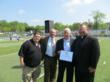 Massimo DiDonna, Co-founder Carl V Bini Memorial Fund, Marc Alvarez, Chief of Staff Congressman Michael Grimm, Michael Summerbee, Manchester City Football Club Ambassador, Father Michael Reilly, Principal St. Joseph by-the-Sea High School.