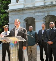 At an International Faith Based Coalition event at the California State Capitol April 20, 2013, Mike Klagenberg of the Church of Scientology Sacramento offered to make the Truth About Drugs program available free of charge to religious leaders, educators