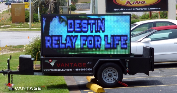 vantage led donates led sign trailer to relay for life to